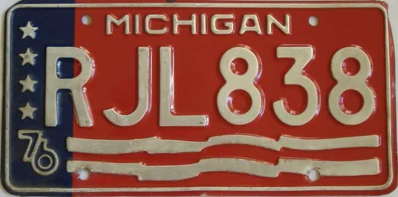 1976 MI (Single) license plate for sale