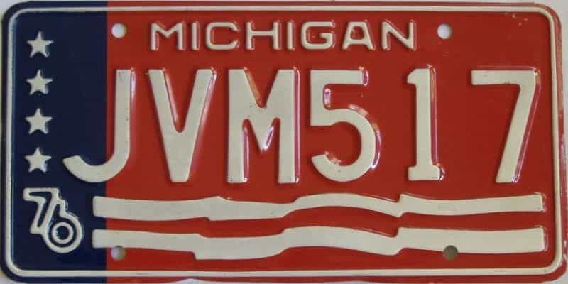 1976 MI (Single) license plate for sale