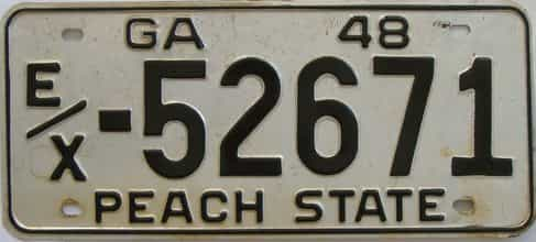 YOM 1948 Georgia (Touched Up) license plate for sale