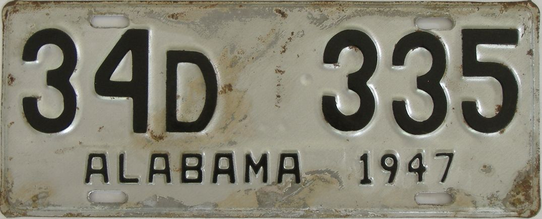 1948 Alabama (Touched Up) license plate for sale
