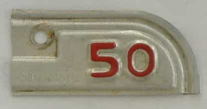 1950 California  (Single) license plate for sale