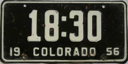 1956 Colorado (Single) license plate for sale