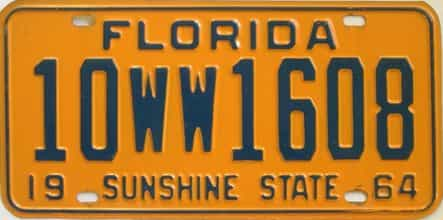 1964 Florida License Plate  sc 1 st  Florida License Plates for Sale - The Tag Dr. Store & Florida License Plates for Sale - The Tag Dr. Store