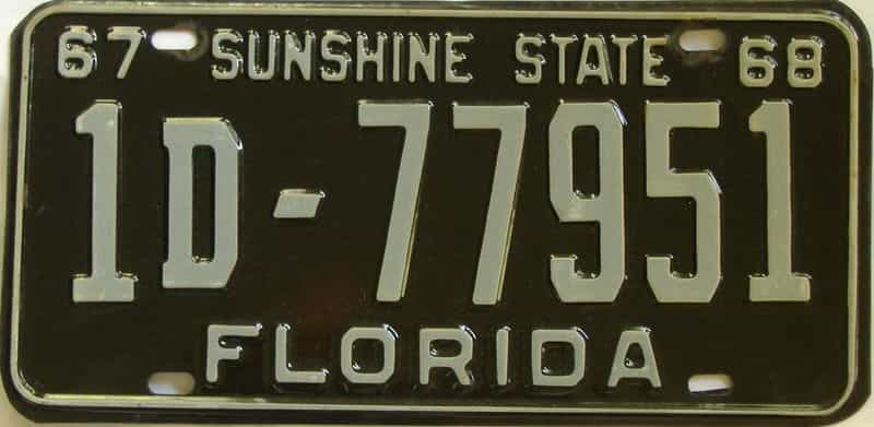 1967 FL license plate for sale