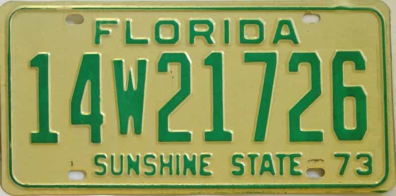 1973 FL license plate for sale