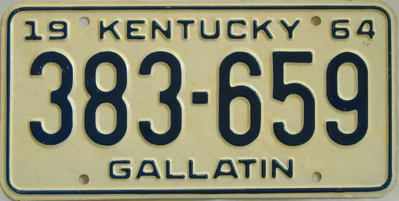 1964 Kentucky license plate for sale