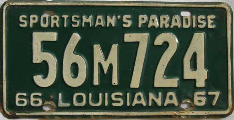 1966 Louisiana license plate for sale