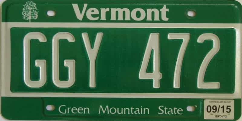 2015 VT (Single) license plate for sale