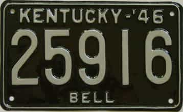RESTORED 1946 Kentucky license plate for sale