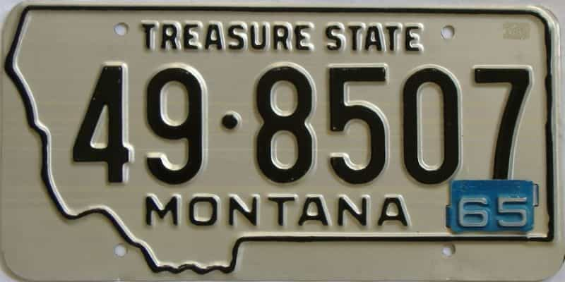 1965 MT (Single) license plate for sale