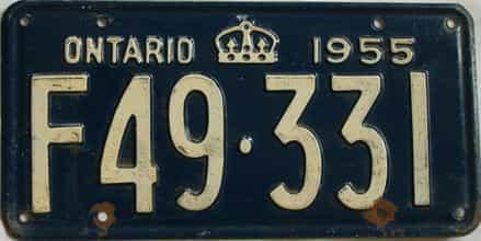 1955 CANADA (Ontario)