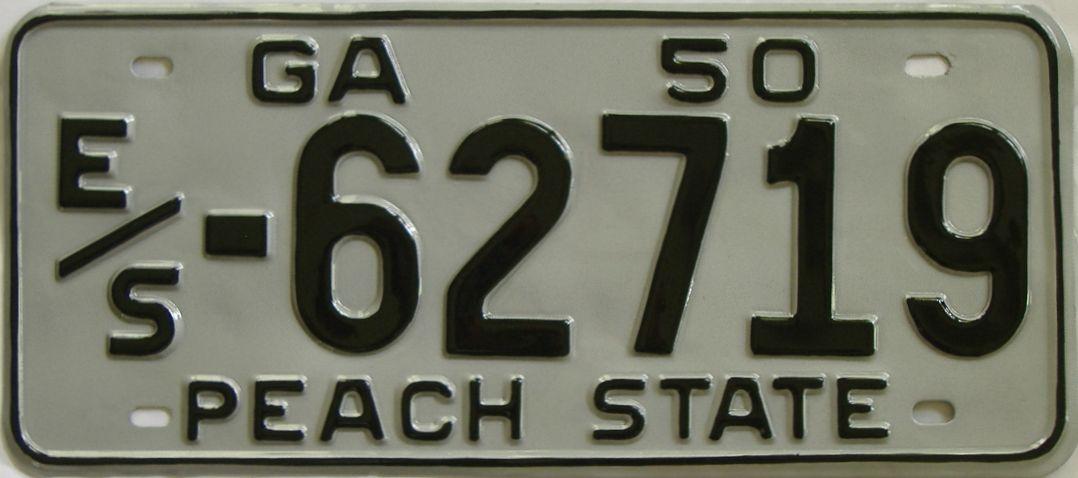 YOM RESTORED 1950 Georgia license plate for sale
