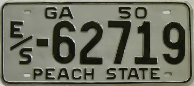 YOM RESTORED 1950 GA license plate for sale
