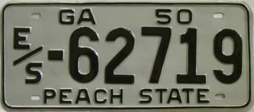 YOM RESTORED 1950 Georgia license plate for sale