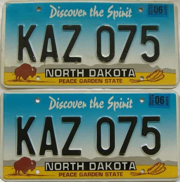 2006 ND (Pair) license plate for sale
