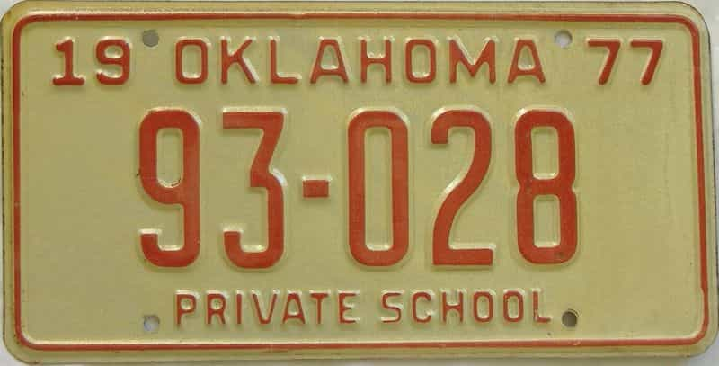 1977 OK (Non Passenger) license plate for sale