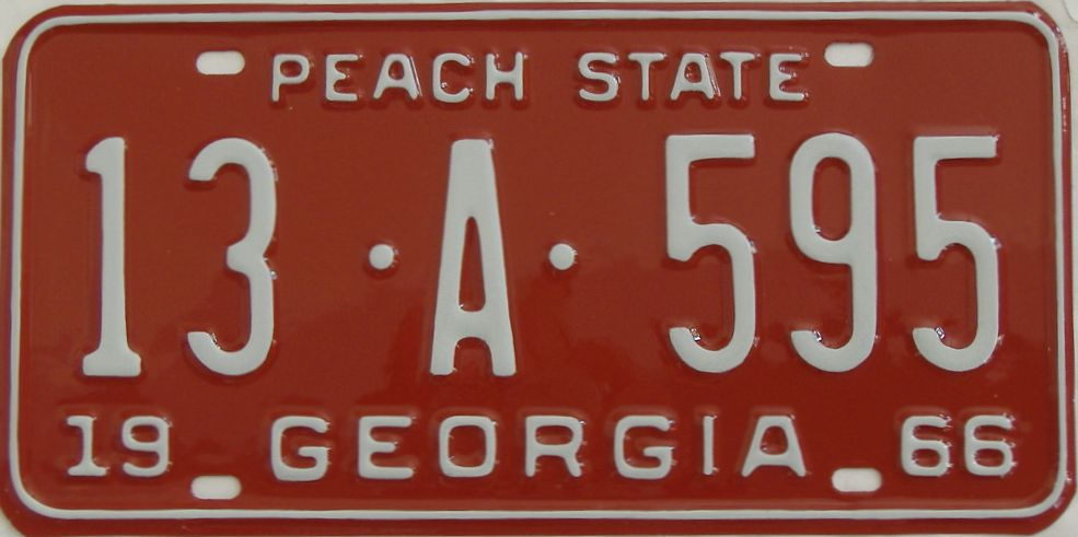 YOM RESTORED 1966 Georgia license plate for sale