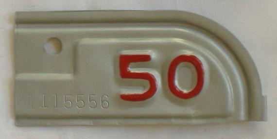 YOM 1950 California (Single) license plate for sale