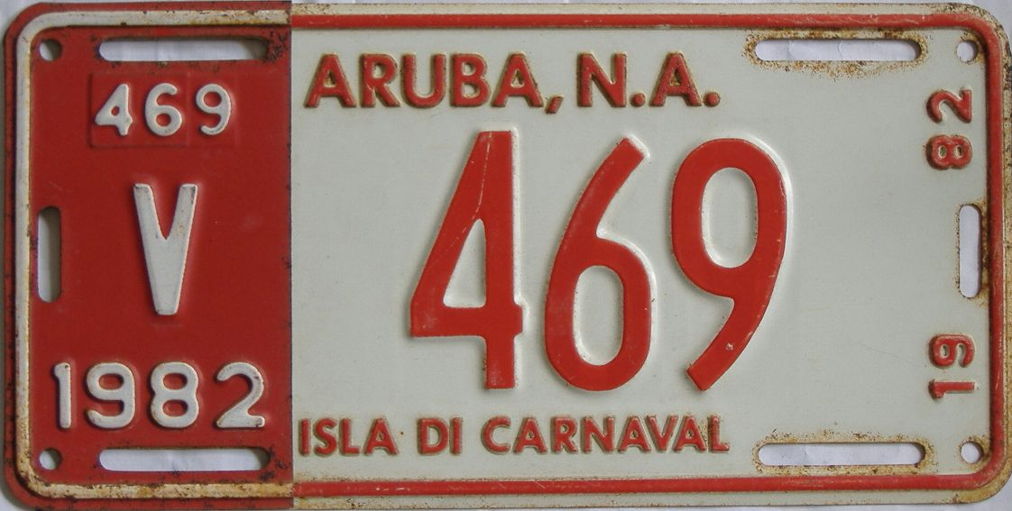 1982 Foreign license plate for sale