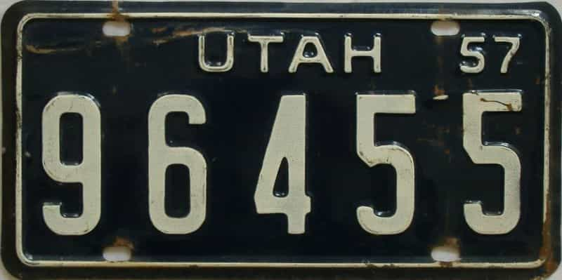 1957 Utah (Truck) license plate for sale
