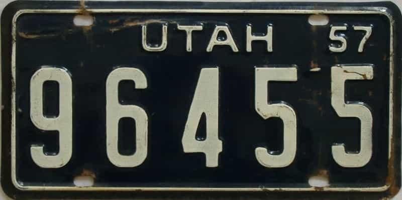 1957 UT (Truck) license plate for sale