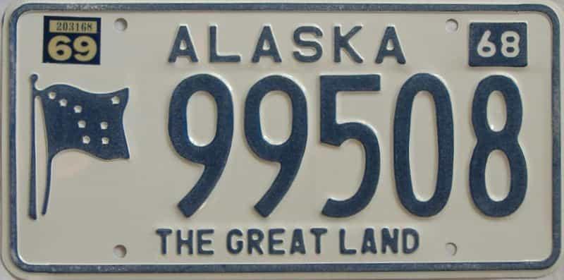 1969 AK (Single) license plate for sale