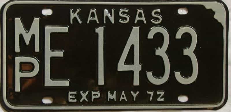 1972 KS license plate for sale