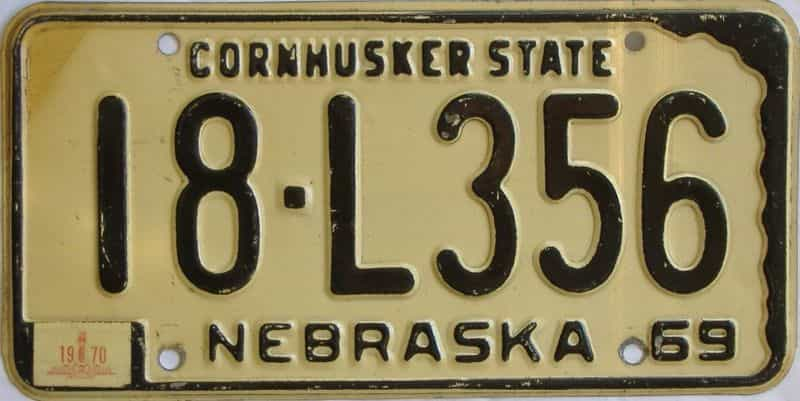 1970 NE (Single) license plate for sale
