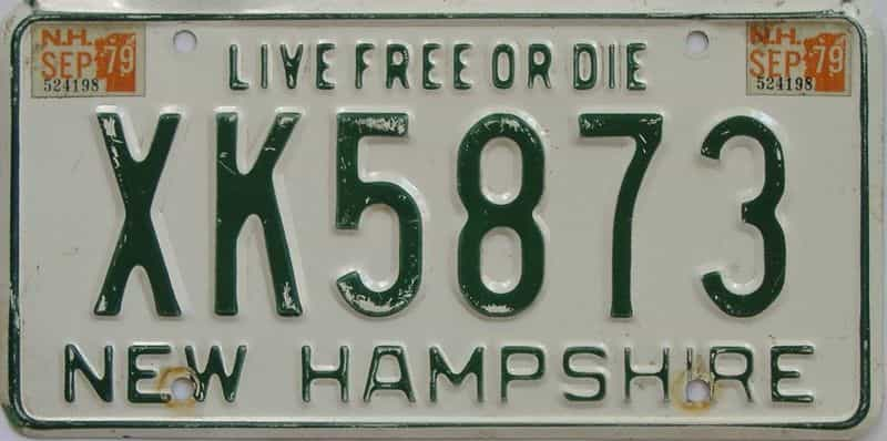 1979 New Hampshire (Single) license plate for sale