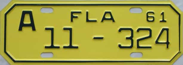 1961 Florida (Motorcycle) license plate for sale