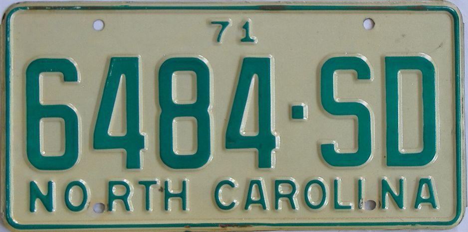 1971 North Carolina (Truck) license plate for sale