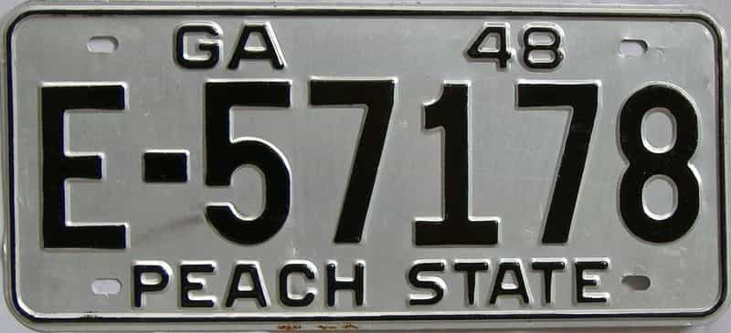 YOM 1948 GA license plate for sale