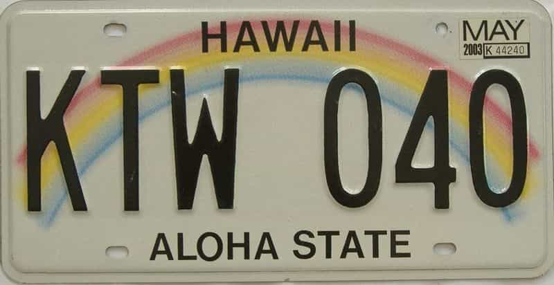 2003 HI (Natural Single) license plate for sale