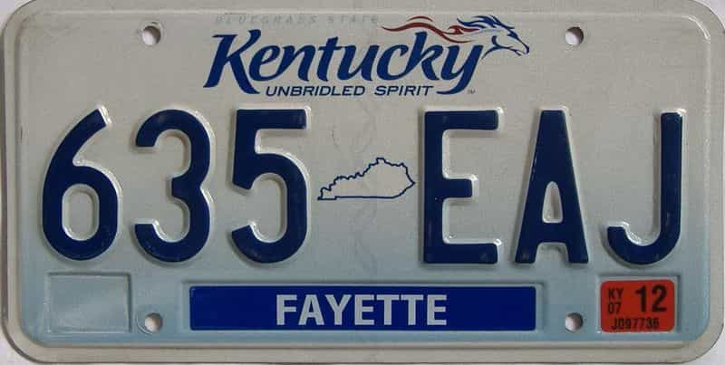 2007 KY license plate for sale