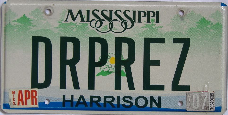 2007 MS (Vanity) license plate for sale