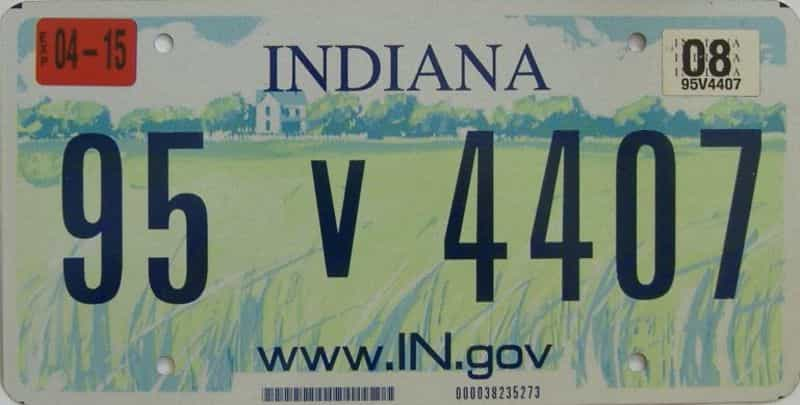 2008 Indiana license plate for sale