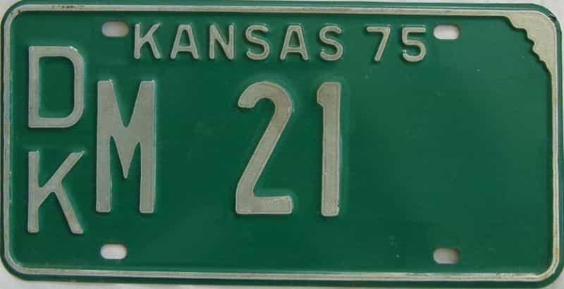 1975 Kansas license plate for sale