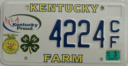 2015 Kentucky license plate for sale