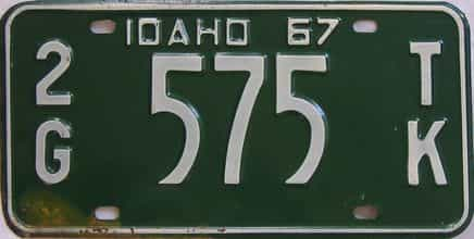 1967 Idaho (Truck) license plate for sale