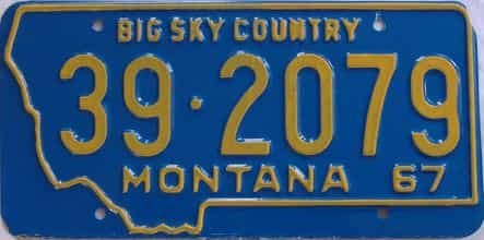 1967 Montana (Single) license plate for sale