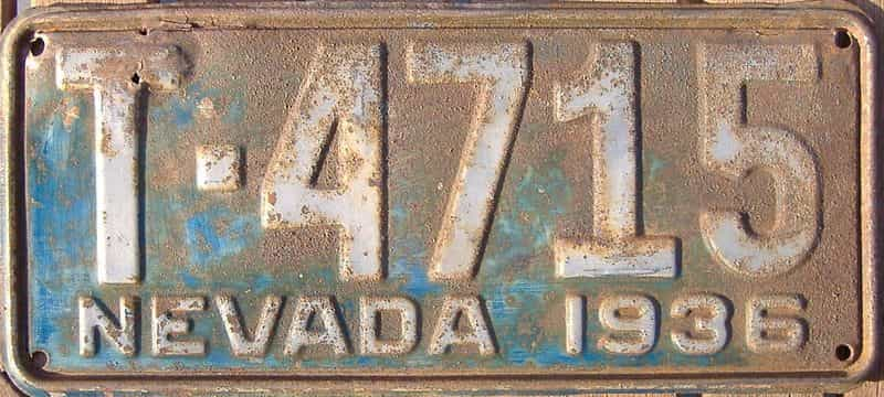 1936 Nevada  (Truck) license plate for sale