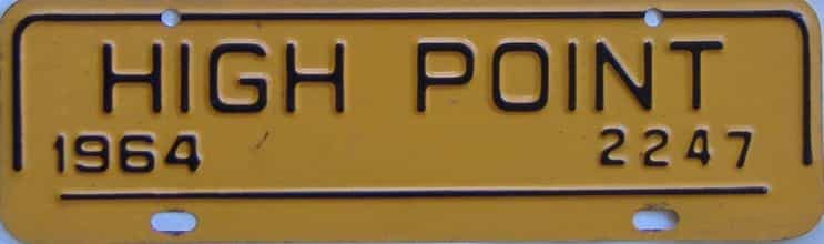 1964 North Carolina (Non Passenger) license plate for sale