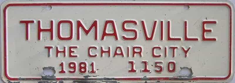 1981 NC (Non Passenger) license plate for sale