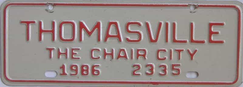 1986 NC (Non Passenger) license plate for sale