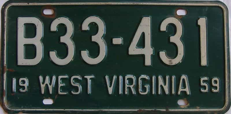 1959 West Virginia (Truck) license plate for sale