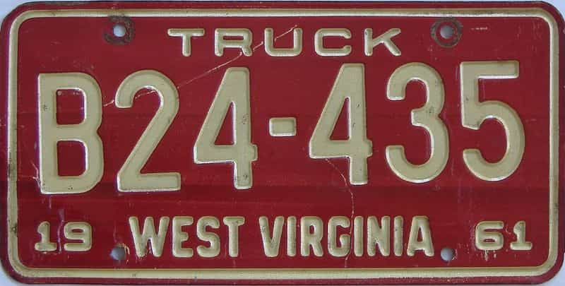 1961 West Virginia (Truck) license plate for sale