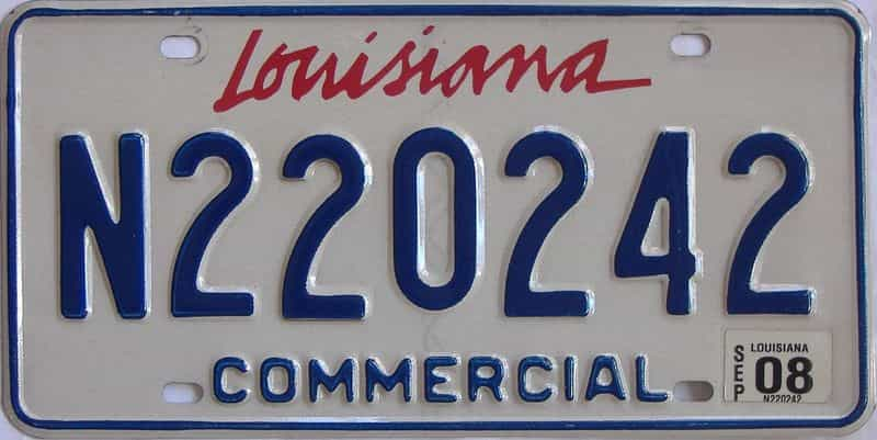 2008 Louisiana (Non Passenger) license plate for sale