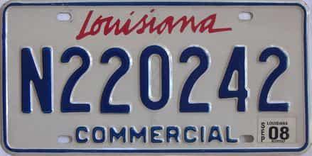 2008 Louisiana (Non Passenger) license plate for sale