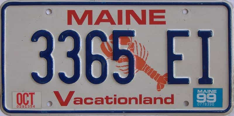 1999 ME (Natural Single) license plate for sale