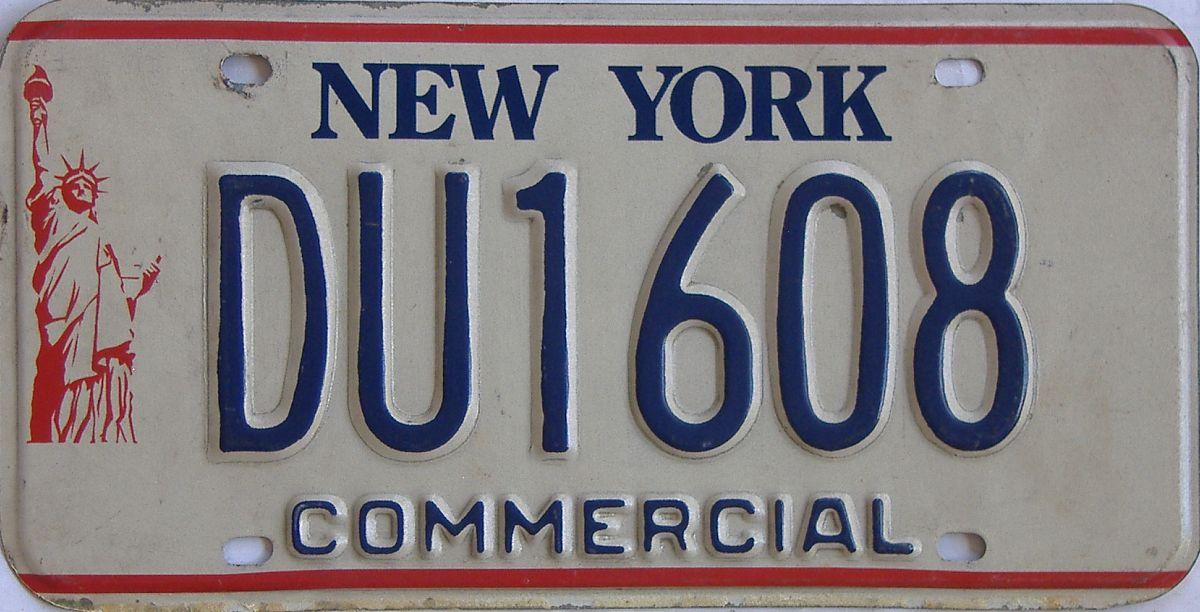 New York (Non Passenger) license plate for sale